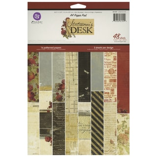 Stationer's Desk Paper Pad A4 48/Sheets-16 Single-Sided Patterns/3 Each