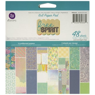 "Free Spirit Paper Pad 6""X6"" 48/Sheets-16 Single-Sided Patterns/3 Each"