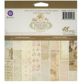 "Princess Paper Pad 6""X6"" 48/Sheets-16 Single-Sided Patterns/3 Each"