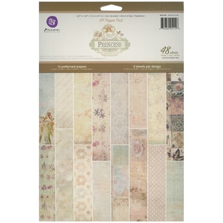 Princess Paper Pad A4 48/Sheets-16 Single-Sided Patterns/3 Each