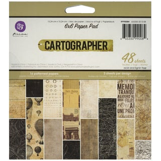 """Cartographer Paper Pad 6""""x6"""" 48/Sheets -6 Single-Sided Patterns/3 Each"""