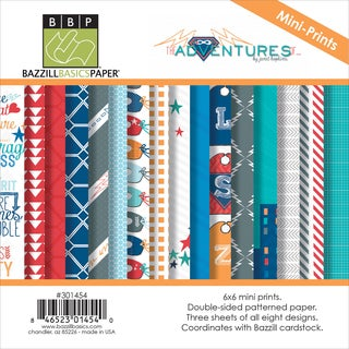 """The Adventures Of Paper Multi-Pack 6""""X6"""" 24/Pkg-8 Double-Sided Mini Prints/3ea"""