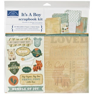 It's A Boy Scrapbook Page Kit 12inX12in