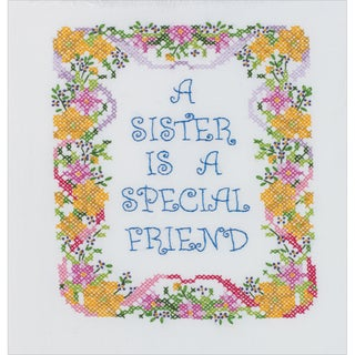 "A Sister Is A Special Friend Stamped Cross Stitch Kit-7""X9"""