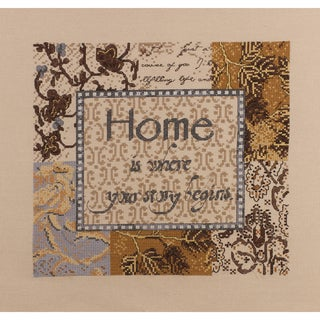 "Home Is Where Story Begins Counted Cross Stitch Kit-10""X10"" 28 Count"