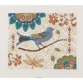 """Bluebird Counted Cross Stitch Kit-10""""X8"""" 14 Count"""