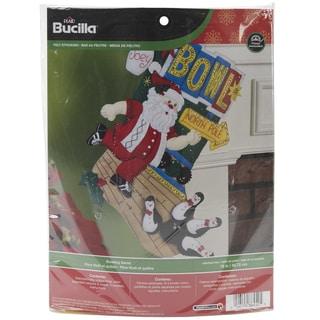 "Bowling Santa Stocking Felt Applique Kit-18"" Long"