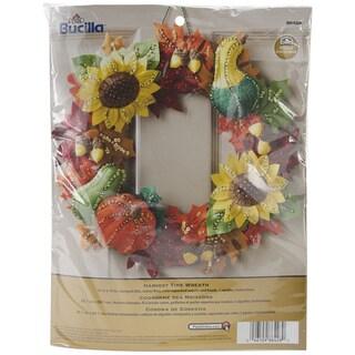 "Harvest Time Wreath Felt Applique Kit-15"" Round"