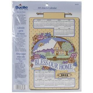 "Bless Our Home 2015 Jeweled Felt Calendar Kit-16""X24"""