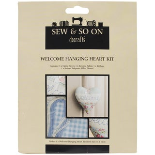 Sew & So On Hanging Heart Kit-Welcome