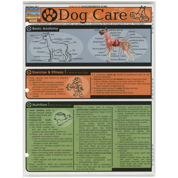Quick Study Reference Guide-Dog Care
