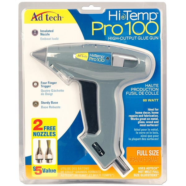 Pro 100 High Temp Full Size Glue Gun W/Nozzle Pack