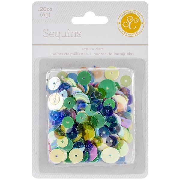 Lemonlush Sequins Assorted 8mm To 12mm .2 Ounce-Multicolor
