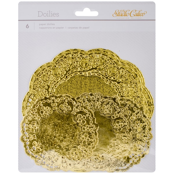 Lemonlush Paper Doilies 6/Pkg-Gold