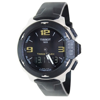 Tissot Men's T-Race T081.420.17.057.00 Black Rubber Swiss Quartz Watch with Black Dial