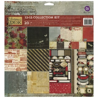 Stationer's Desk Collection Kit 12inX12in 20/Sheets