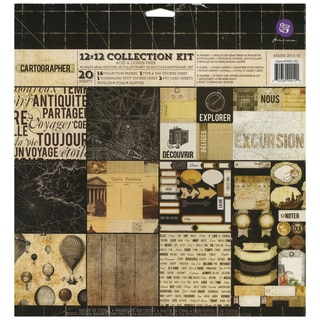 Cartographer Collection Kit 12inX12in 20/Sheets