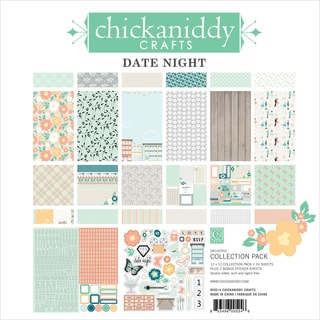 """Date Night Collection Pack 12""""X12""""-24 Double-Sided Papers/2 Sticker Sheets"""