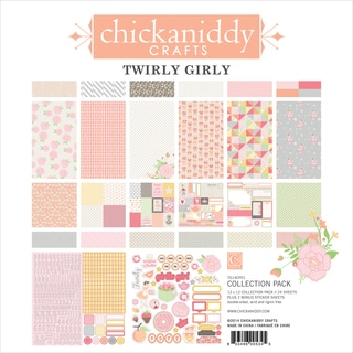 """Twirly Girl Collection Pack 12""""X12""""-24 Double-Sided Papers/2 Sticker Sheets"""