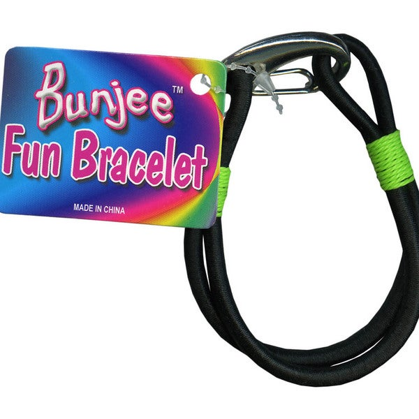 Bungee Cord Bracelet-Black And Green