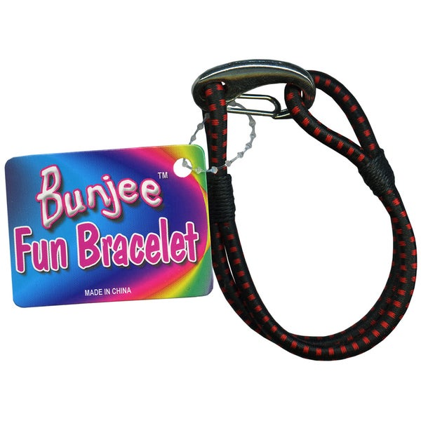 Bungee Cord Bracelet-Black And Red
