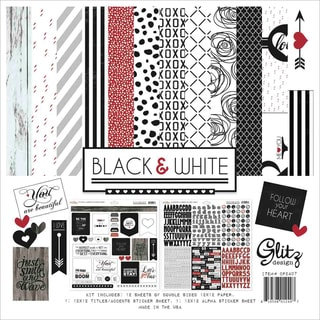 Black & White Collection Pack 12inX12in