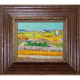 Vincent Van Gogh 'The Harvest' Hand Painted Framed Canvas Art
