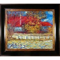 Pierre-Auguste Renoir 'Duck Pond' Hand Painted Framed Canvas Art
