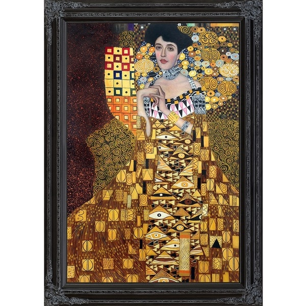 Gustav Klimt 'Portrait of Adele Bloch-Bauer 1, 1907' Hand Painted Framed Canvas Art