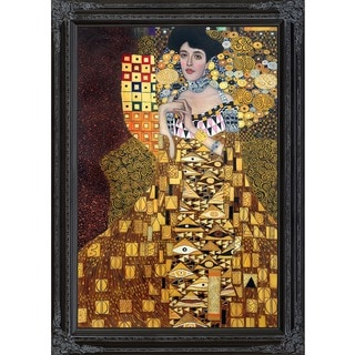Gustav Klimt 'Portrait of Adele Bloch-Bauer 1, 1907' Hand Painted Framed Canvas Art