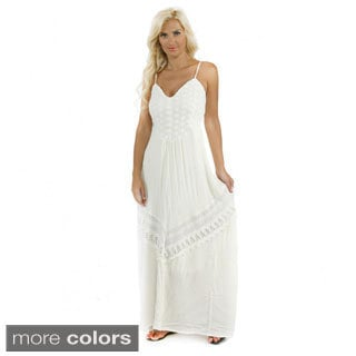 Trendology Women's Lace Maxi Dress