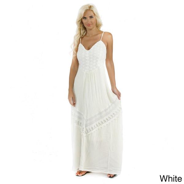 Trendology Women's Lace Maxi Dress