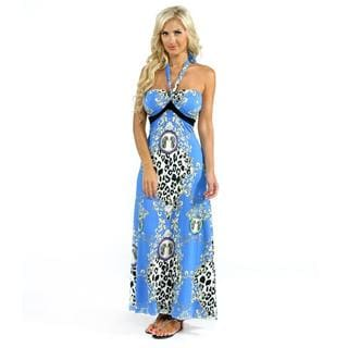 IB Diffusion Animal Print Maxi Dress in Blue