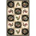 Nourison Country Heritage Ivory/Black Rug (5'3 x 8'3)