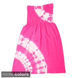 InGear Girls Tie-dye Strapless Dress
