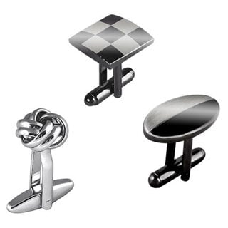 BasAcc Silver Metal Elegant Cufflinks Bullet Back Closure for Professionals Suit