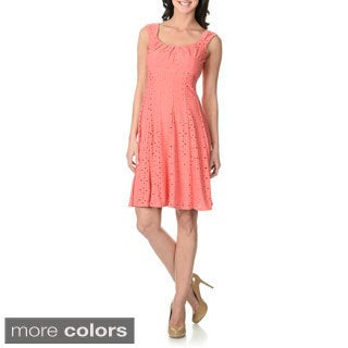 London Times Women's Eyelet Dress