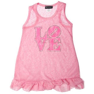 InGear Girls Love Print Ruffled Hem Dress