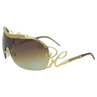 Roberto Cavalli Women's 'RC852S Botein E69' Gold Shield Sunglasses