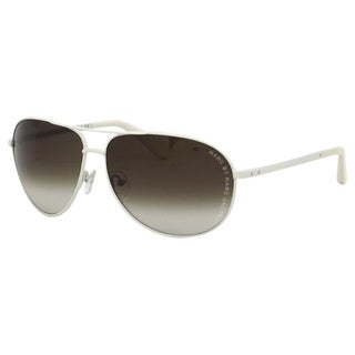 Marc Jacobs Women White Aviator Sunglasses