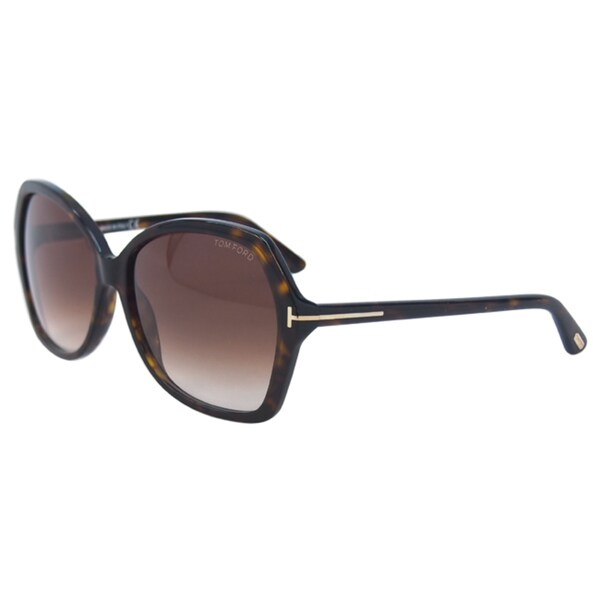 Tom Ford Carola 52F Women Dark Havana Sunglasses