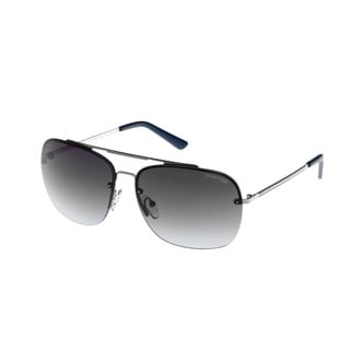 Kenneth Cole Silvertone Rimless Aviator Sunglasses