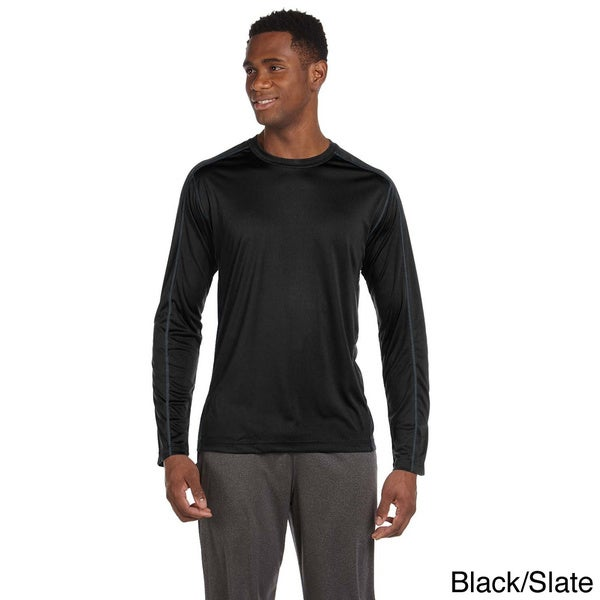 Men's Long Sleeve Interlock Pieced T-shirt