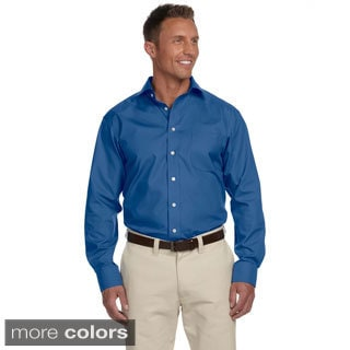 Men's Executive Performance Broadcloth Shirt with Spread Collar