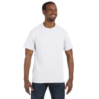 Jerzees Men's White 50/50 Heavyweight Blend T-shirts (Pack of 6)
