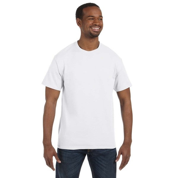 Jerzees Men's White 50/50 Heavyweight Blend T-shirts (Pack of 6)