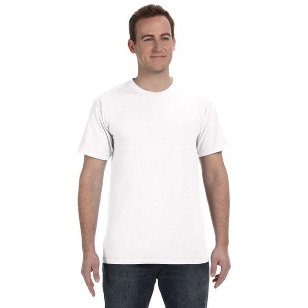 Men's Pigment-dyed and Direct-dyed Ringspun Cotton T-shirts (Pack of 6)