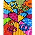 Peace Heart Beach Towel-for-Two