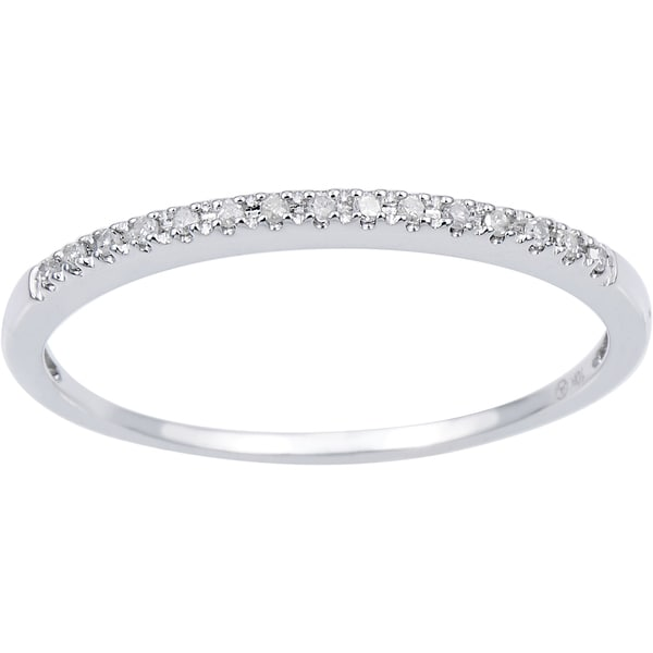 Beverly Hills Charm 10k Gold 0.06 ct TDW Diamond Stackable Ring (H-I, I2-3)