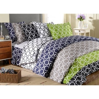 Simple Elegance Scroll Park 600 Thread Count 3-piece Duvet Cover Set